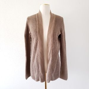 GAP Women Medium Brown Relaxed Open Front Cardigan